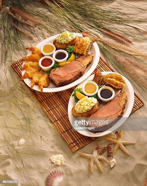 Prime rib and seafood dinners