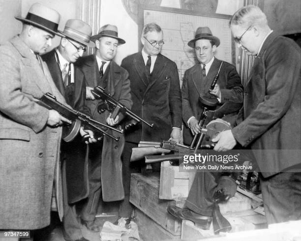 Primed for warfare Chicago gangsters forced police to equip themselves with miniature arsenals to cope with gang wars Deputy Chief Stege hands out...