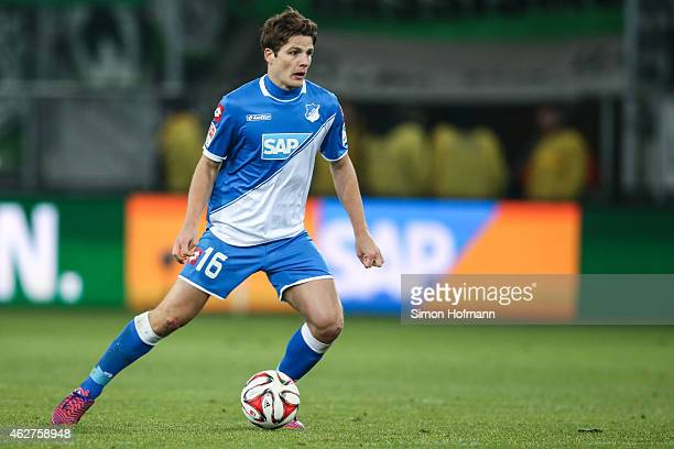 Primin Schwegler of Hoffenheim controls the ball during the Bundesliga match between TSG 1899 Hoffenheim and SV Werder Bremen at Wirsol...