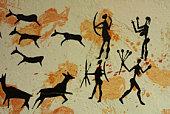 Primitive cave painting
