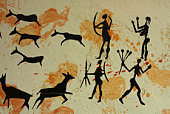 Primitive cave painting