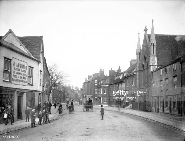 Primitive Methodist Chapel Abingdon Oxfordshire c1860c1922 Looking east along Ock Street showing on the right the chapel built in 1845 A group of...