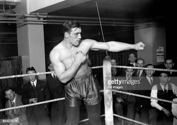Primo Carnera training in preparation for his fight against Reggie Meen at the Albert Hall