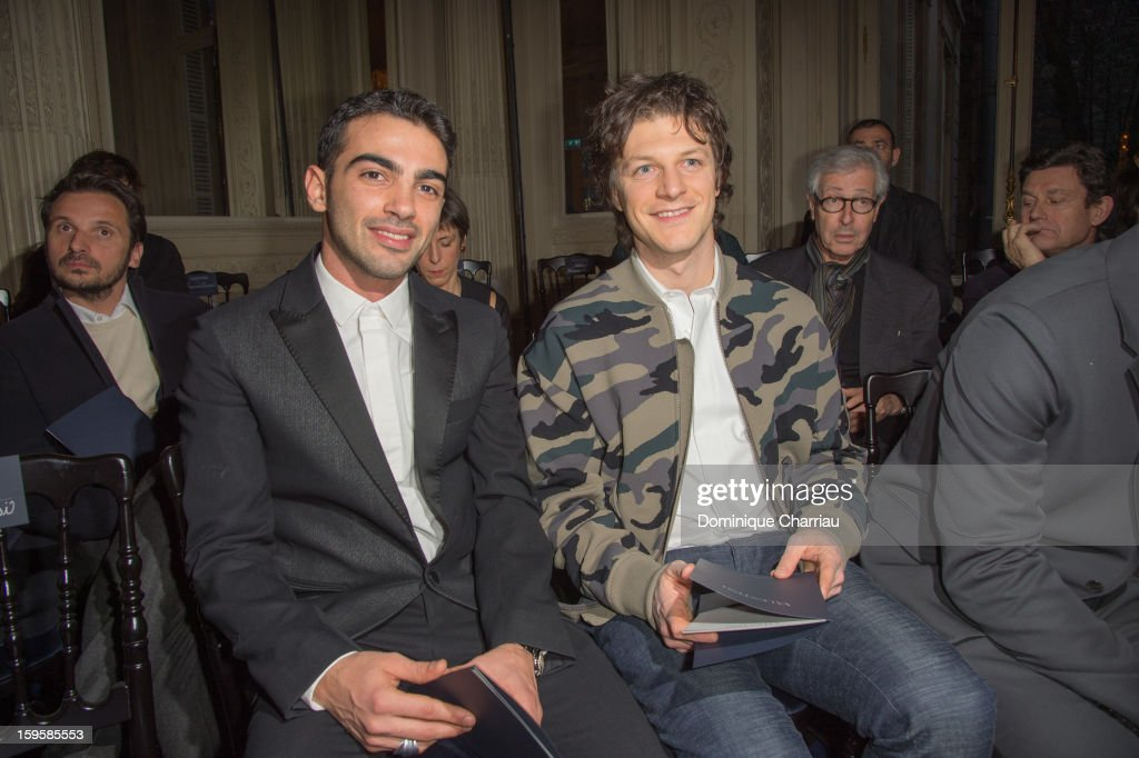 Primo Reggiani and Andrea Bosca attend the Valentino Men Autumn / Winter 2013 show as part of Paris Fashion Week on January 16, 2013 in Paris, France.