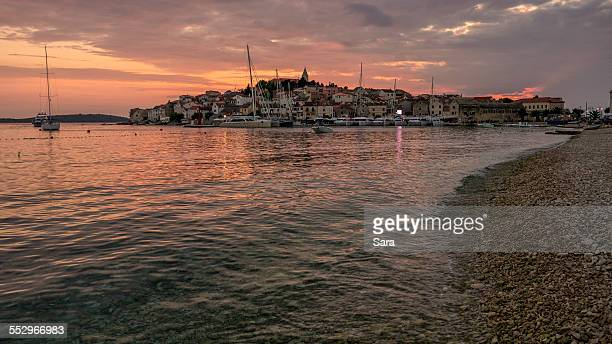 Primosten at sunset, Croatia