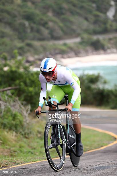 Primoz Roglic of Slovenia competes in the Cycling Road Men's Individual Time Trial on Day 5 of the Rio 2016 Olympic Games at Pontal on August 10 2016...