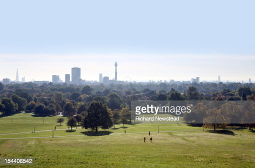 Primrose hill and London skyline