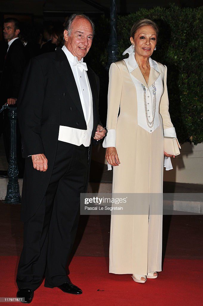 Prince Aga Khan attend a dinner at Opera terraces after the religious wedding ceremony of <a gi-track='captionPersonalityLinkClicked' href=/galleries/search?phrase=Prince+Albert+II+of+Monaco&family=editorial&specificpeople=201707 ng-click='$event.stopPropagation()'>Prince Albert II of Monaco</a> and Princess <a gi-track='captionPersonalityLinkClicked' href=/galleries/search?phrase=Charlene+-+Princess+of+Monaco&family=editorial&specificpeople=726115 ng-click='$event.stopPropagation()'>Charlene</a> of Monaco on July 2, 2011 in Monaco. The Roman-Catholic ceremony followed the civil wedding which was held in the Throne Room of the Prince's Palace of Monaco on July 1. With her marriage to the head of state of the Principality of Monaco, <a gi-track='captionPersonalityLinkClicked' href=/galleries/search?phrase=Charlene+-+Princess+of+Monaco&family=editorial&specificpeople=726115 ng-click='$event.stopPropagation()'>Charlene</a> Wittstock has become Princess consort of Monaco and gains the title, Princess <a gi-track='captionPersonalityLinkClicked' href=/galleries/search?phrase=Charlene+-+Princess+of+Monaco&family=editorial&specificpeople=726115 ng-click='$event.stopPropagation()'>Charlene</a> of Monaco. Celebrations including concerts and firework displays are being held across several days, attended by a guest list of global celebrities and heads of state.