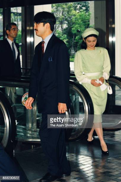 Prince Akishino and Princess Kiko of Akishino are seen prior to the 'Kikuei Shinbokukai' meeting of the royal family members and cedeced royal family...