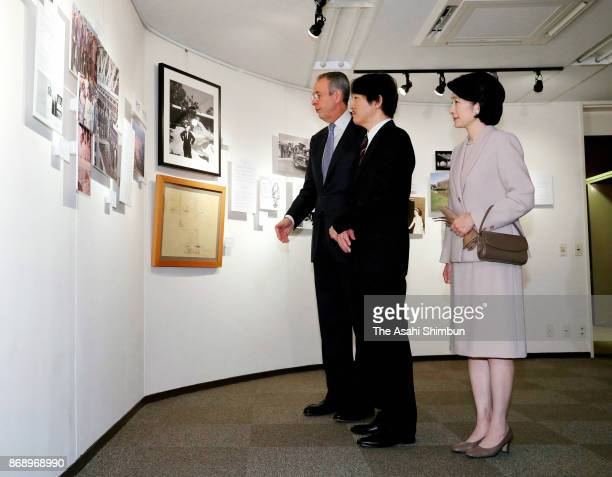 Prince Akishino and Princess Kiko of Akishino attend the exhibition marking the 50th anniversary of Emperor and Empress' first visit to Brazil at...