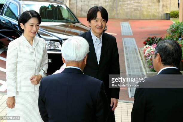 Prince Akishino and Princess Kiko of Akishino visit the Shinjuku Ward Silver Working Center ahead of the Respectfortheaged Day on September 15 2017...