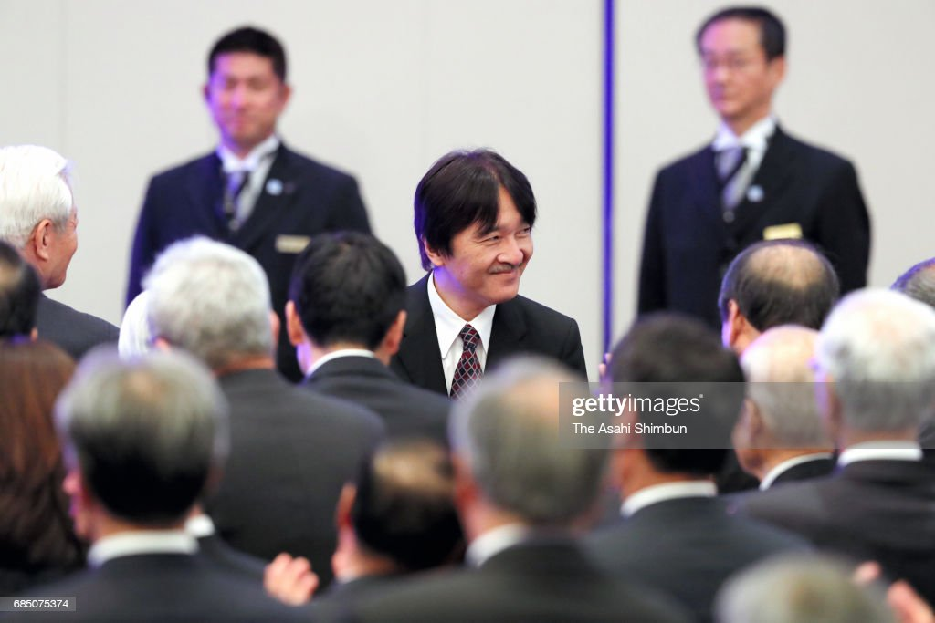 Prince Akishino attends the reception marking the 150th anniversary of the opening of Port of Kobe on May 19, 2017 in Kobe, Hyogo, Japan.