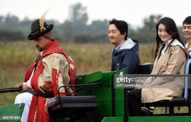 Prince Akishino the 2nd son of Japan's emperor Akihito and his 1st daughter Princess Mako are seen at Bugac puszta about 100 km south from Hungarian...