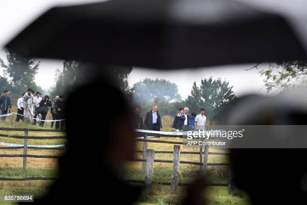 Prince Akishino the 2nd son of Japan's emperor Akihito arrives at Bugac Puszta about 100 km south from Hungarian capital Budapest as a security...