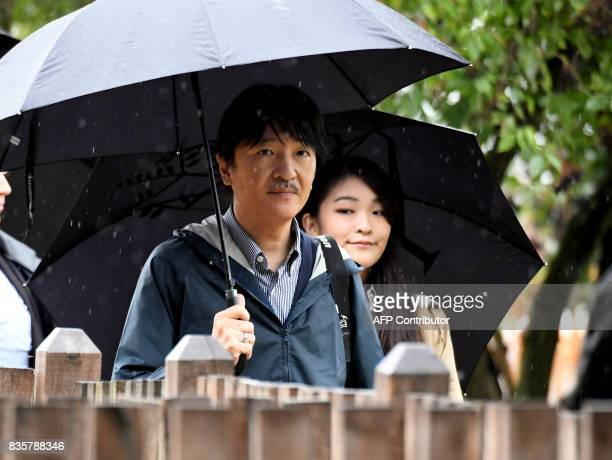 Prince Akishino the 2nd son of Japan's emperor Akihito walks with his 1st daughter Princess Mako at Bugac Puszta about 100 km south from Hungarian...