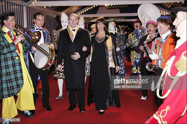 Prince Albert and his sister Princess Stephanie of Monaco in Monaco on January 24 2006