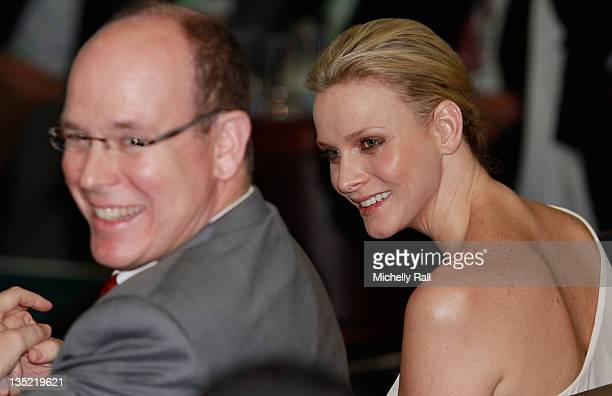 Prince Albert and Princess Charlene of Monaco attend the Climate Action Networking Reception which payed Tribute to Professor Wangari Maathai Nobel...