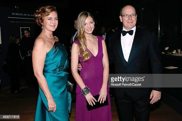 Prince Albert de Monaco Archduchess Eleonore Von Habsburg and her daughter Princess Francesca Von Habsburg attend the 'Cartier Le Style et...