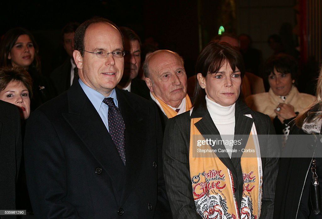 HRR Prince Albert II and HRH Princess Stephanie of Monaco attend the 30th Circus Festival of Monte Carlo.