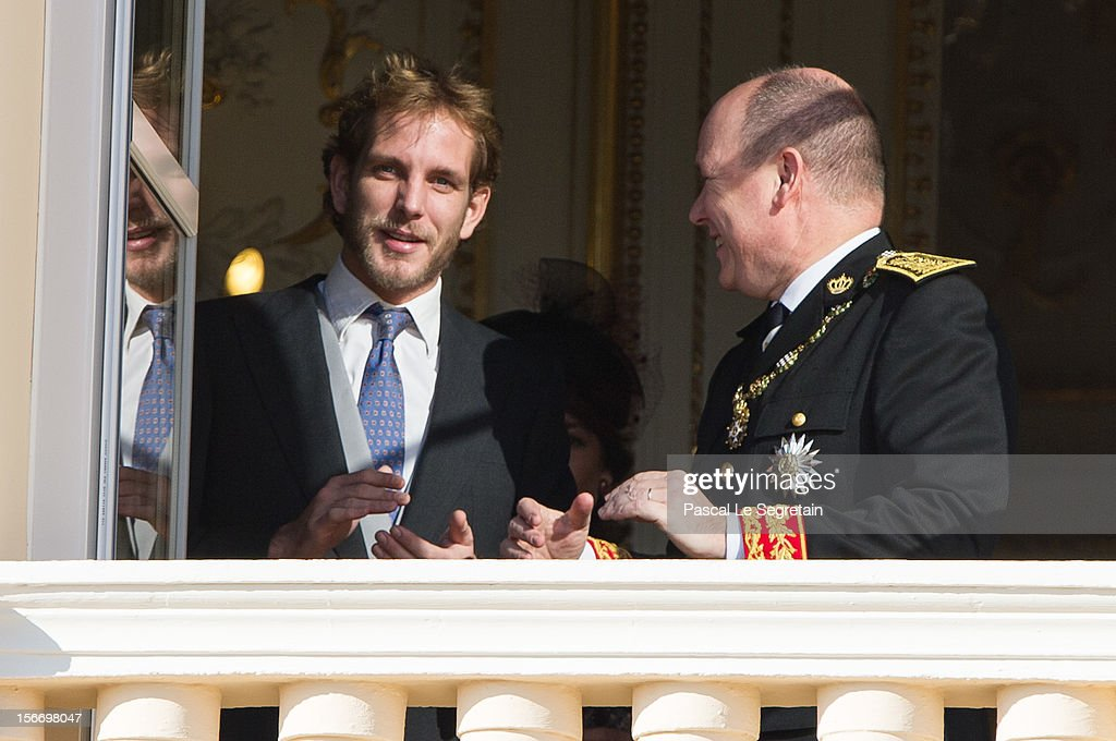 <a gi-track='captionPersonalityLinkClicked' href=/galleries/search?phrase=Prince+Albert+II+of+Monaco&family=editorial&specificpeople=201707 ng-click='$event.stopPropagation()'>Prince Albert II of Monaco</a> and <a gi-track='captionPersonalityLinkClicked' href=/galleries/search?phrase=Andrea+Casiraghi&family=editorial&specificpeople=213711 ng-click='$event.stopPropagation()'>Andrea Casiraghi</a> attend the National Day Parade as part of Monaco National Day Celebrations at Monaco Palace on November 19, 2012 in Monaco, Monaco.