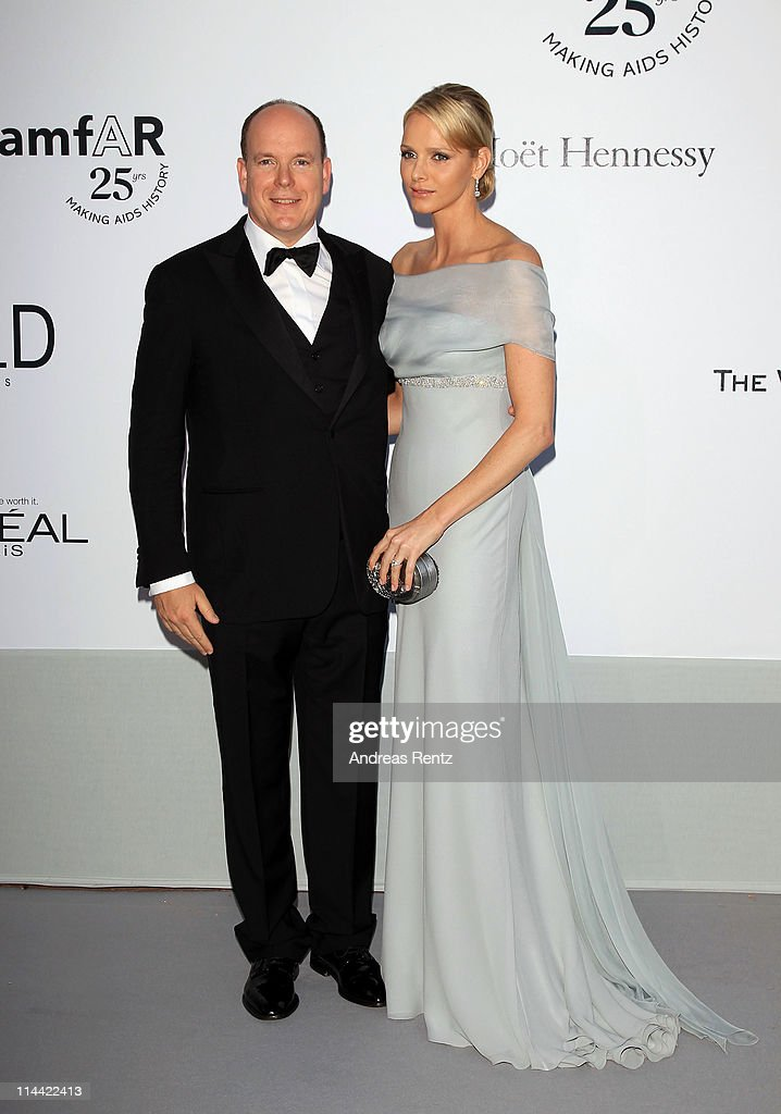 Prince Albert II of Monaco and Charlene Wittstock attend amfAR's Cinema Against AIDS Gala during the 64th Annual Cannes Film Festival at Hotel Du Cap on May 19, 2011 in Antibes, France.