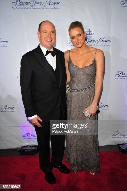 Prince Albert II of Monaco and Charlene Wittstock attend Princess Grace Awards Gala at Cipriani 42nd on October 21 2009 in New York City