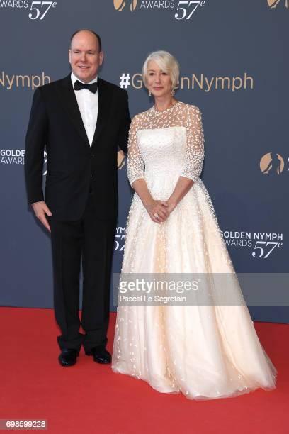 Prince Albert II of Monaco and Helen Mirren attend the Closing ceremony of the 57th Monte Carlo TV Festival on June 20 2017 in MonteCarlo Monaco