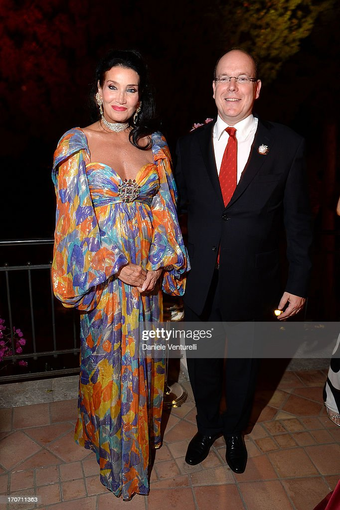 <a gi-track='captionPersonalityLinkClicked' href=/galleries/search?phrase=Prince+Albert+II+of+Monaco&family=editorial&specificpeople=201707 ng-click='$event.stopPropagation()'>Prince Albert II of Monaco</a> and Lamia Khashoggi attend Taormina Filmfest and Prince Albert II Of Monaco Foundation Gala Dinner at on June 16, 2013 in Taormina, Italy.