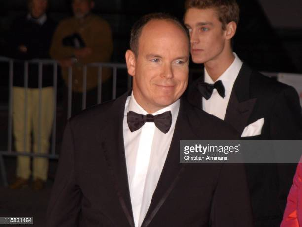 Prince Albert II of Monaco and Pierre Casiraghi during Swarovski Fashion Rocks for the Prince's Trust Red Carpet Arrivals at Forum Grimaldi in Monte...
