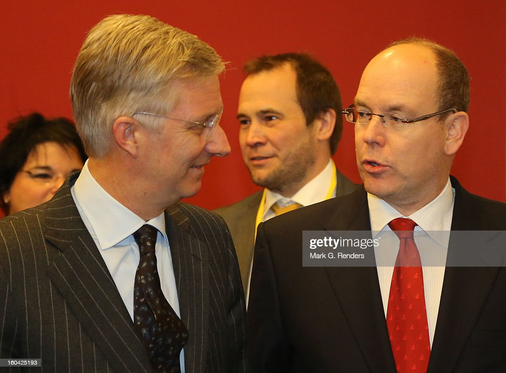 <a gi-track='captionPersonalityLinkClicked' href=/galleries/search?phrase=Prince+Albert+II+of+Monaco&family=editorial&specificpeople=201707 ng-click='$event.stopPropagation()'>Prince Albert II of Monaco</a> and Prince <a gi-track='captionPersonalityLinkClicked' href=/galleries/search?phrase=Philippe+of+Belgium&family=editorial&specificpeople=160209 ng-click='$event.stopPropagation()'>Philippe of Belgium</a> attend the 1st Interdisciplanary Congress On Sustainable Development at the Palais des Congres on January 31, 2013 in Namur, Belgium. Topics expected to be covered at the two-day conference, on January 31 and February 1, 2013, include food and agriculture, land use, planning and housing.