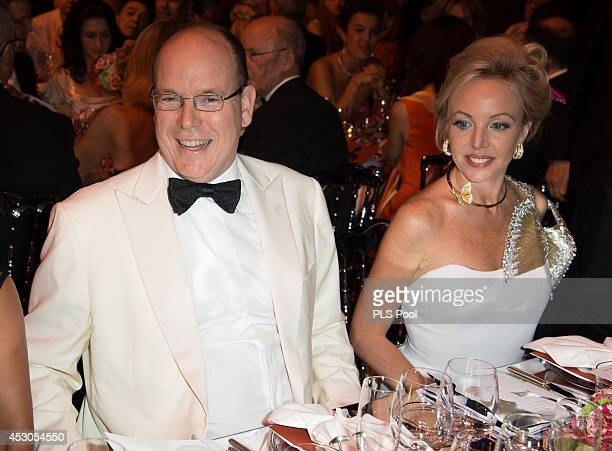 Prince Albert II of Monaco and Princess Camilla Duchess Of Castro attend the 66th Monaco Red Cross Ball Gala at Sporting MonteCarlo on August 1 2014...