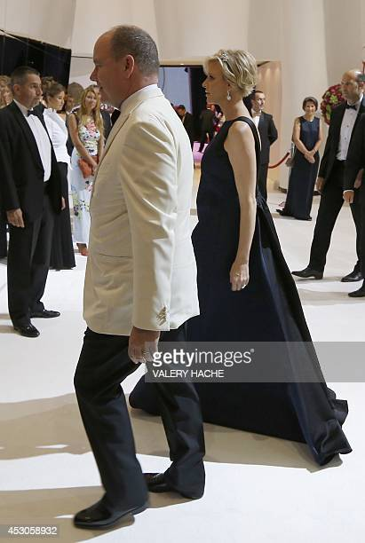 Prince Albert II of Monaco and Princess Charlene arrive to attend the 66th annual Red Cross Gala on August 1 in Monaco Created in 1948 the gala is an...