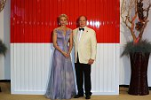 Prince Albert II of Monaco and Princess Charlene arrive to attend the 68th annual Red Cross Gala on July 23 in Monaco Created in 1948 the gala is an...