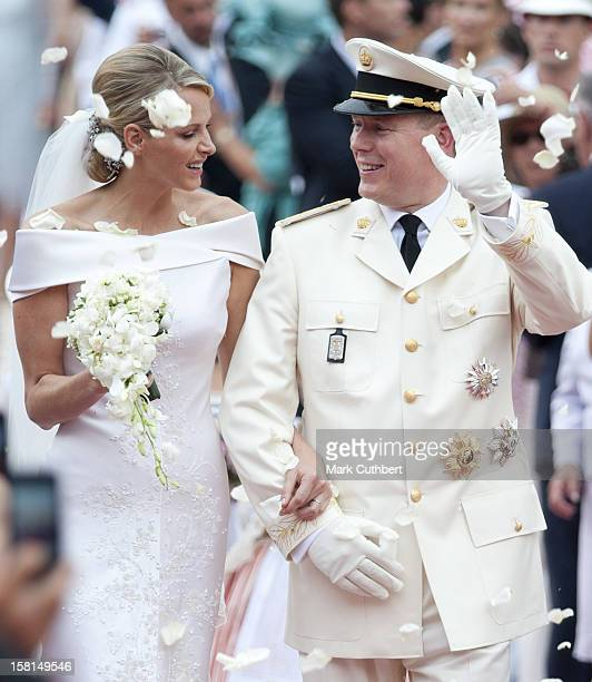 Prince Albert Ii Of Monaco And Princess Charlene Leave The Royal Palace In Monaco After Their Wedding