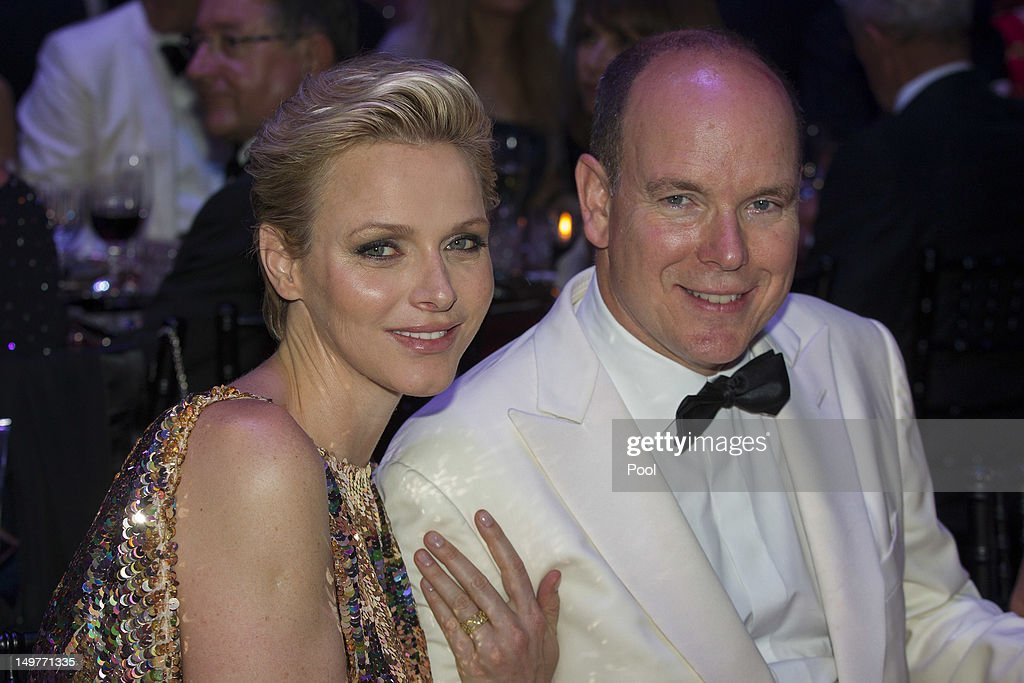 <a gi-track='captionPersonalityLinkClicked' href=/galleries/search?phrase=Prince+Albert+II+of+Monaco&family=editorial&specificpeople=201707 ng-click='$event.stopPropagation()'>Prince Albert II of Monaco</a> and Princess <a gi-track='captionPersonalityLinkClicked' href=/galleries/search?phrase=Charlene+-+Princess+of+Monaco&family=editorial&specificpeople=726115 ng-click='$event.stopPropagation()'>Charlene</a> of Monaco attend 64th Red Cross Ball Gala in Salle des Etoiles at Sporting Monte-Carlo on August 3, 2012 in Monte-Carlo, Monaco.