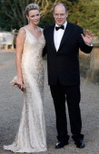 Prince Albert II of Monaco and Princess Charlene of Monaco attend the Yorkshire Variety Club Golden Ball at Harewood House on September 4 2011 in...