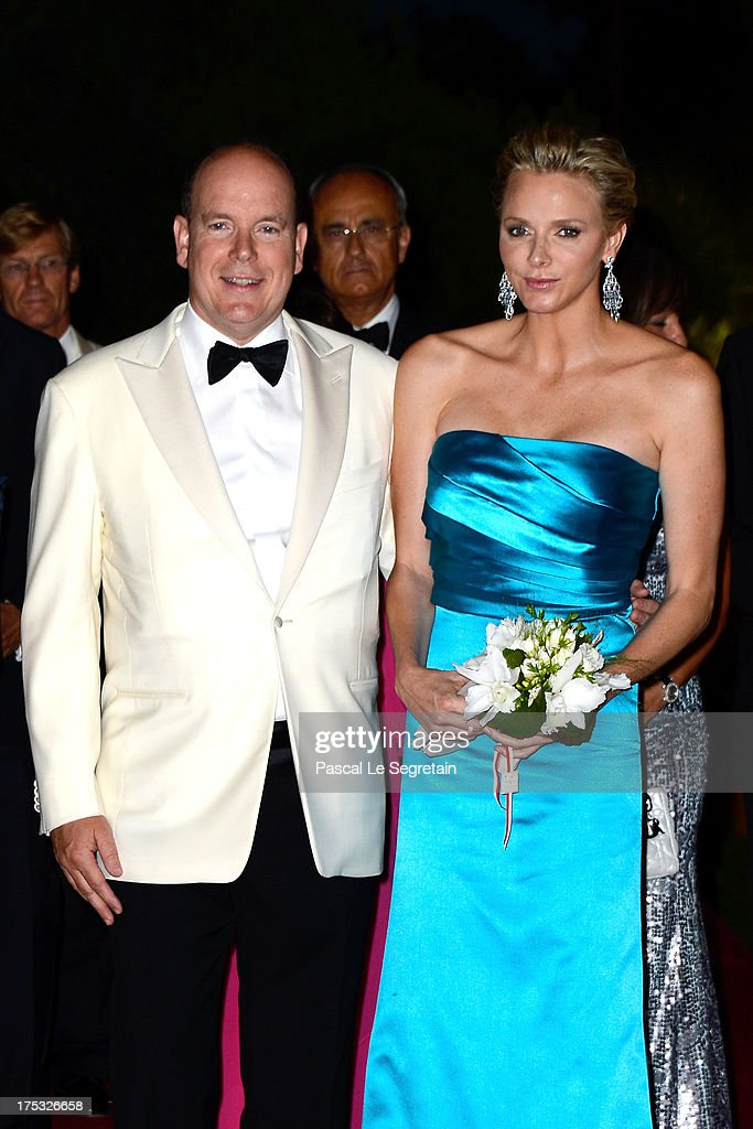 Prince Albert II of Monaco and Princess Charlene of Monaco attend the 65th Monaco Red Cross Ball Gala at Sporting Monte-Carlo on August 2, 2013 in Monte-Carlo, Monaco.