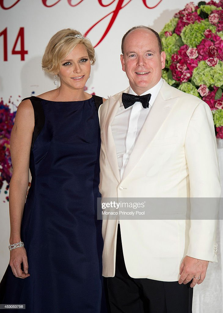 Prince Albert II of Monaco and Princess Charlene of Monaco attend the 66th Monaco Red Cross Ball Gala at 'Summer Sporting' on August 1 2014 in...