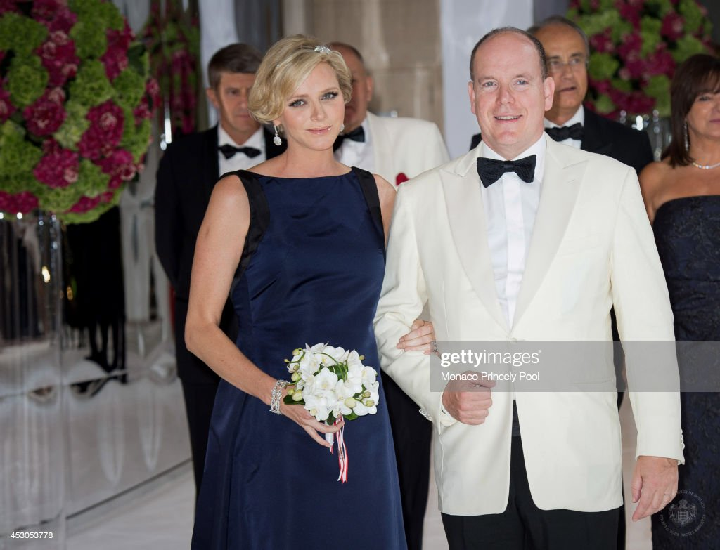 <a gi-track='captionPersonalityLinkClicked' href=/galleries/search?phrase=Prince+Albert+II+of+Monaco&family=editorial&specificpeople=201707 ng-click='$event.stopPropagation()'>Prince Albert II of Monaco</a> and Princess <a gi-track='captionPersonalityLinkClicked' href=/galleries/search?phrase=Charlene+-+Princess+of+Monaco&family=editorial&specificpeople=726115 ng-click='$event.stopPropagation()'>Charlene</a> of Monaco attend the 66th Monaco Red Cross Ball Gala at 'Summer Sporting' on August 1, 2014 in Monte-Carlo, Monaco.