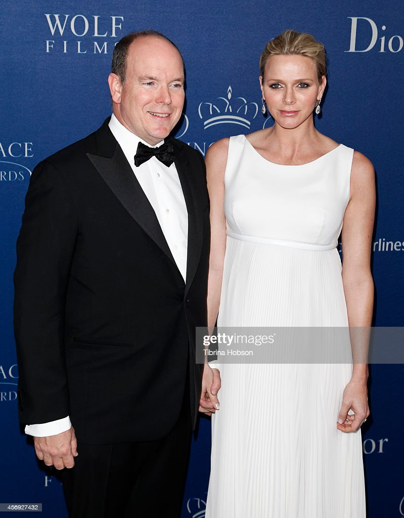 Prince Albert II of Monaco and Princess Charlene of Monaco attend the 2014 Princess Grace awards gala at the Beverly Wilshire Four Seasons Hotel on...