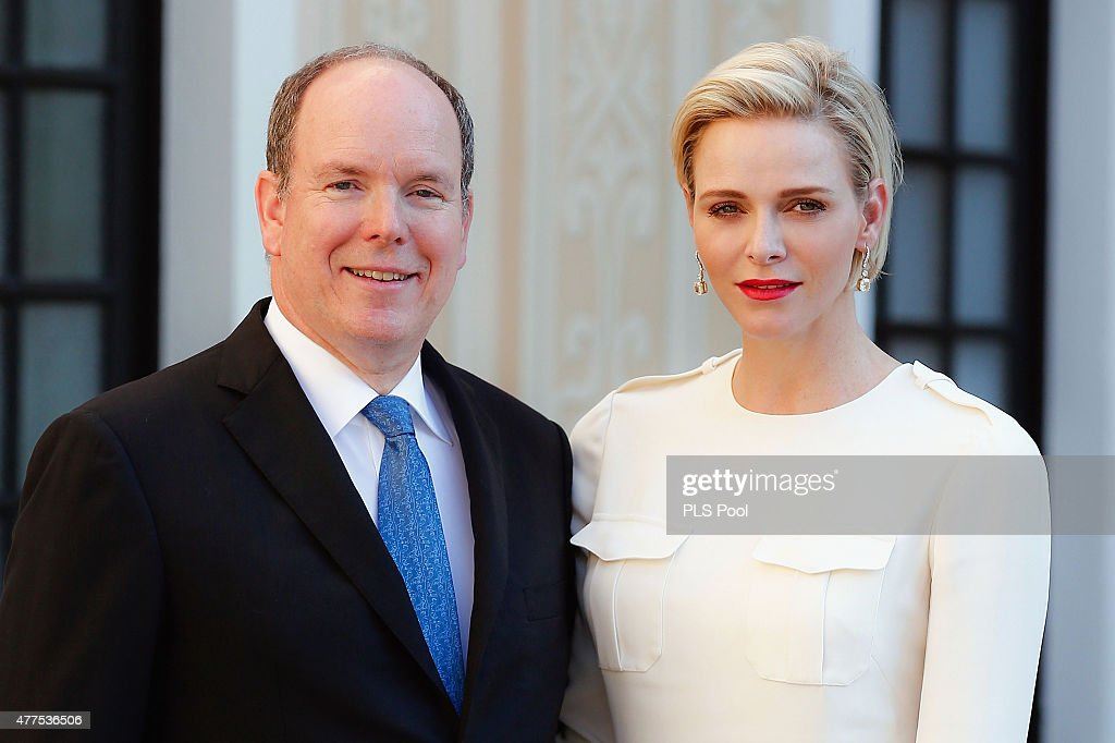 <a gi-track='captionPersonalityLinkClicked' href=/galleries/search?phrase=Prince+Albert+II+of+Monaco&family=editorial&specificpeople=201707 ng-click='$event.stopPropagation()'>Prince Albert II of Monaco</a> and Princess <a gi-track='captionPersonalityLinkClicked' href=/galleries/search?phrase=Charlene+-+Princess+of+Monaco&family=editorial&specificpeople=726115 ng-click='$event.stopPropagation()'>Charlene</a> of Monaco attend the Monaco Palace cocktail party of the 55th Monte Carlo TV festival on June 17, 2015 in Monte-Carlo, Monaco.