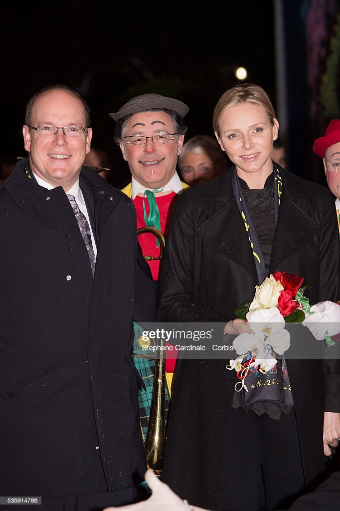 Prince Albert II of Monaco and Princess Charlene of Monaco attend the 38 th Monte-Carlo Circus international Festival, in Monaco.