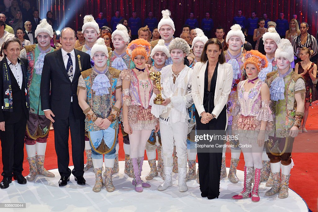 Prince Albert II of Monaco and Princess Stephanie of Monaco during the Prize Ceremony of the 38th International Circus Festival on January 21, 2014 in Monte-Carlo, Monaco.