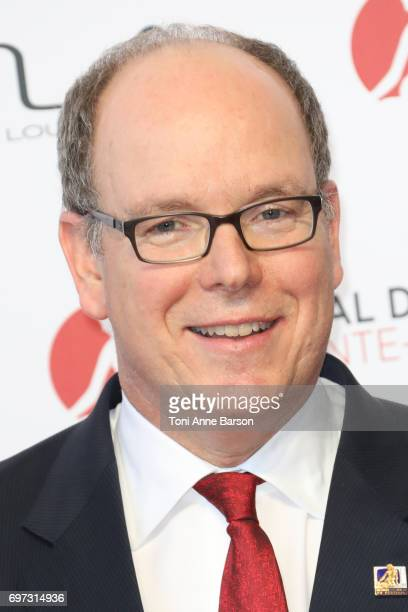 Prince Albert II of Monaco arrives at the Opening Ceremony of the 57th Monte Carlo TV Festival and World premier of Absentia Serie on June 16 2017 in...