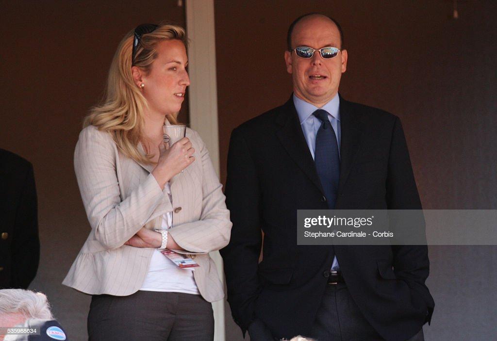 HSH Prince Albert II of Monaco at the Monte Carlo tennis tournament.