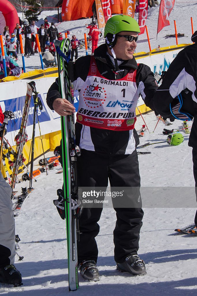 Prince Albert II of Monaco attends the Biatlhon Charity Ski Race To Collect Donations For 'Star Team For The Children MC' on March 2, 2013 in Limone, Italy.