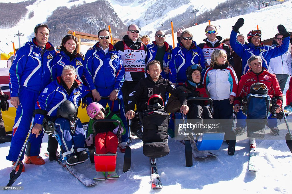 Prince Albert II of Monaco attends the Charity Ski Race To Collect Donations For 'Star Team For The Children MC' on March 2, 2013 in Limone, Italy.