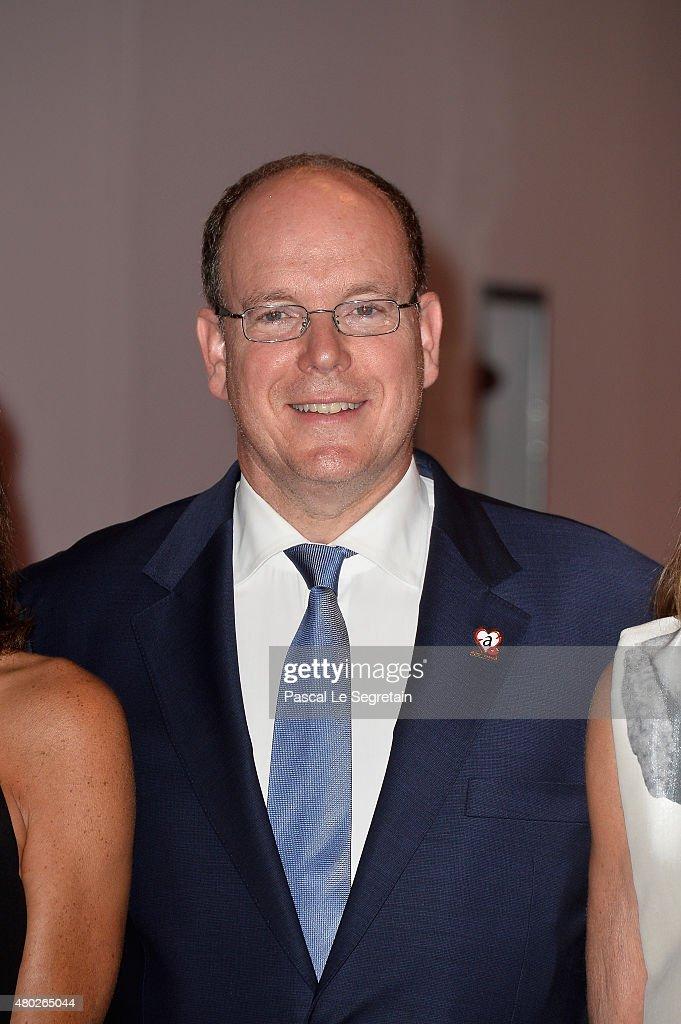 Prince Albert II of Monaco attends the Fight Aids Charity Gala In Monte-Carlo on July 10, 2015 in Monaco, Monaco.