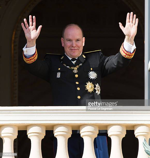 Prince Albert II of Monaco attends the National Day Parade as part of Monaco National Day Celebrations at Monaco Palace on November 19 2012 in Monaco...