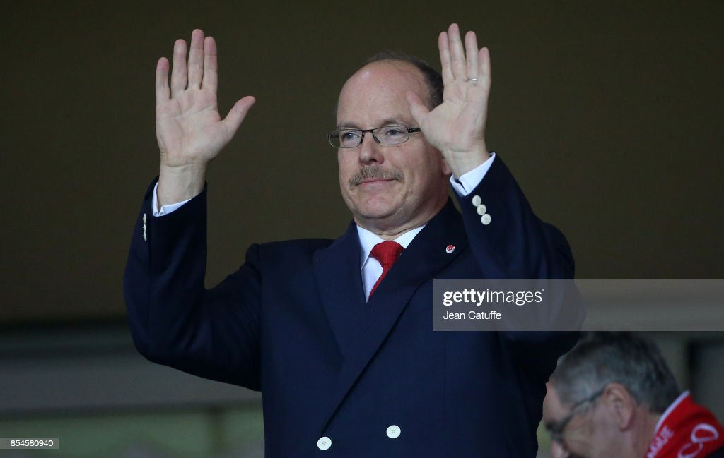 Prince Albert II of Monaco attends the UEFA Champions League group G match between AS Monaco and FC Porto at Stade Louis II on September 26, 2017 in Monaco, Monaco.